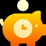 ikon för att spara tid och pengar som en fördel av att anlita en legotillverkare